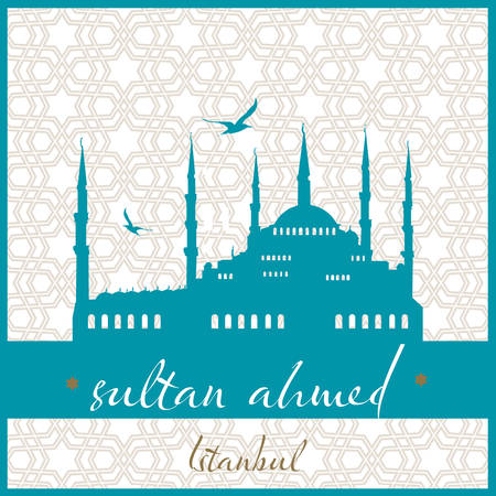 Istanbul Sultan Ahmed mosque vector illustration Illustration