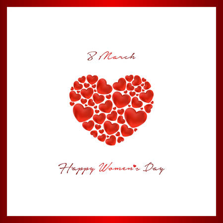 happy womens day greeting card Ilustrace