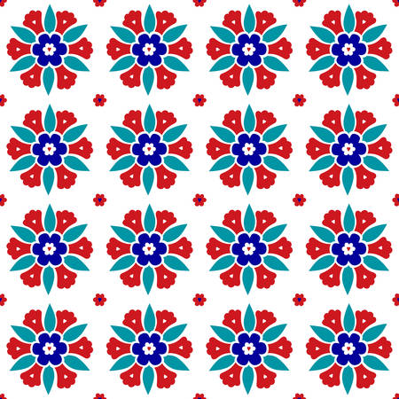 Seamless ottoman pattern vector illustration design background