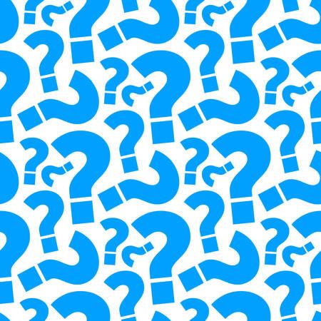 Vraagteken naadloze patroon achtergrond. Vector Illustratie