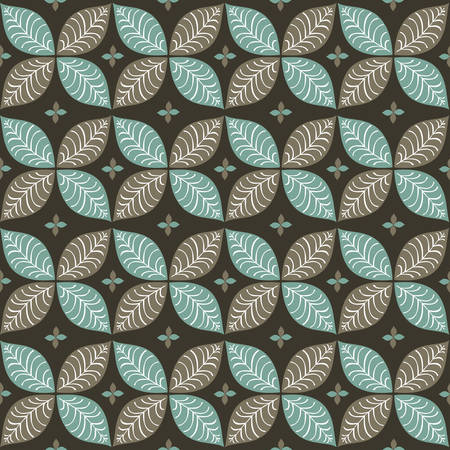 seamless leaf pattern vector illustration