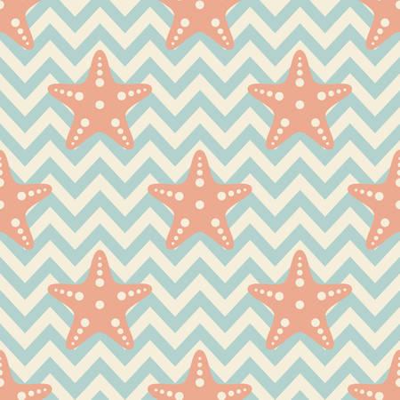 seamless sea star pattern vector illustration