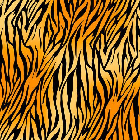 seamless tiger print pattern vector illustration