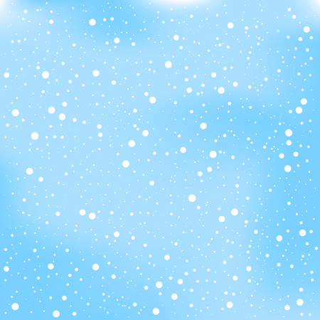 Christmas snow and winter on blue background vector illustration.