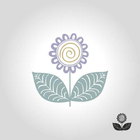 Flower logo, icon and symbol vector illustration