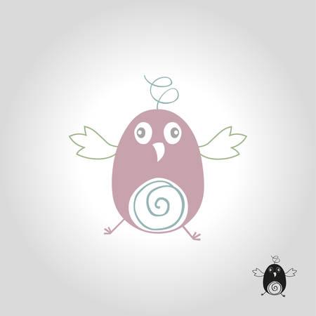 Bird logo, icon and symbol vector illustration Illustration