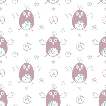 seamless bird pattern vector illustration
