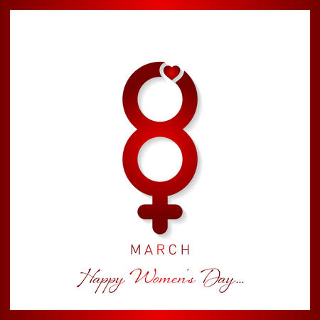 happy womens day greeting card vector illustration Ilustrace