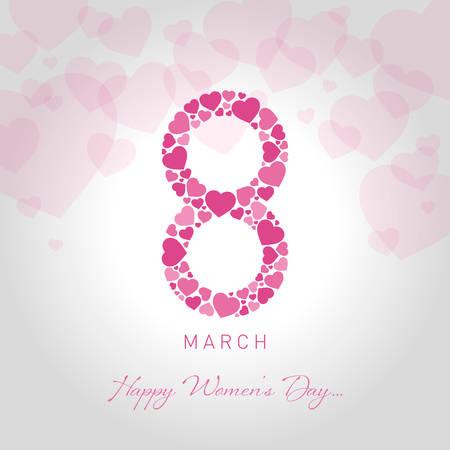 happy womens day greeting card vector illustration Illustration