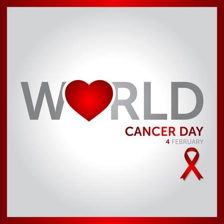 4 february world cancer day concept design vector illustration