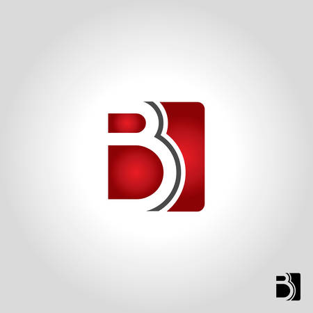 letter b icon and symbol vector illustration