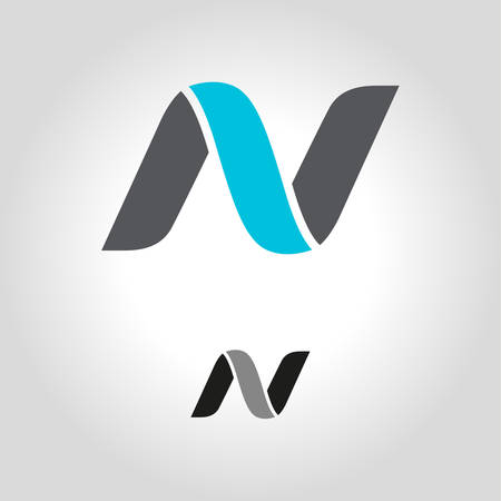 Buchstabe n Logo, Symbol und Symbolvektorillustration Logo