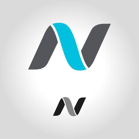 letter n logo, icon and symbol vector illustration Ilustração