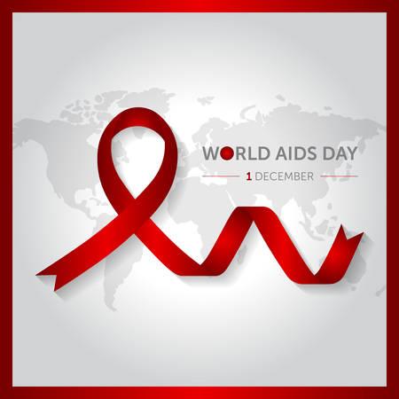 1 december world AIDS design vector illustration