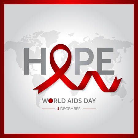 1 december world AIDS design vector illustration
