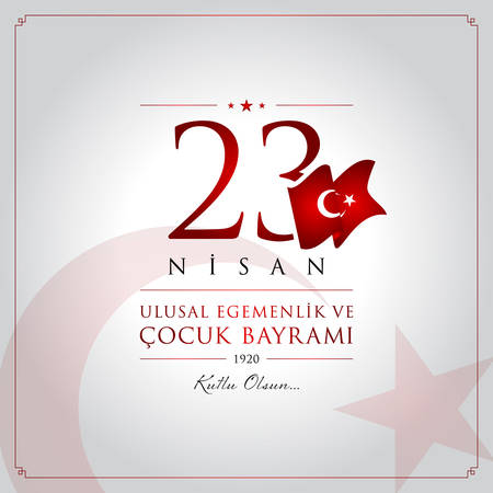 23 April, National Sovereignty and Children's Day celebration card.