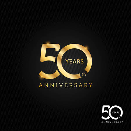 50 years anniversary logo, icon and symbol vector illustration
