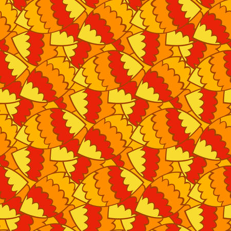 seamless autumn leaf pattern vector illustration