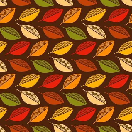 seamless autumn leaf pattern vector illustration