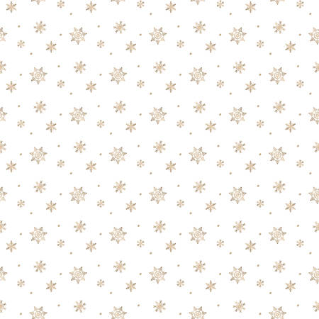 seamless snowflakes pattern and background vector illustration