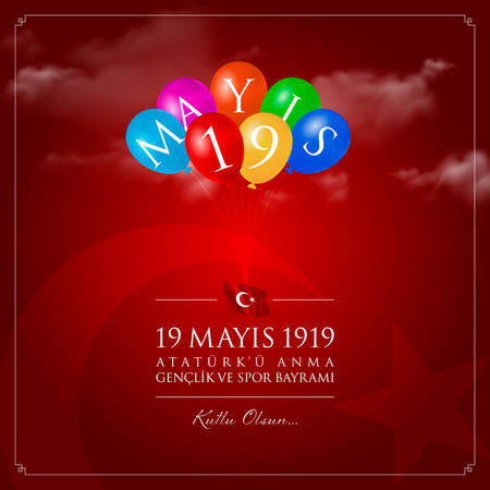 May 19, Turkish Commemoration of Ataturk, Youth and Sports Day. Ilustração