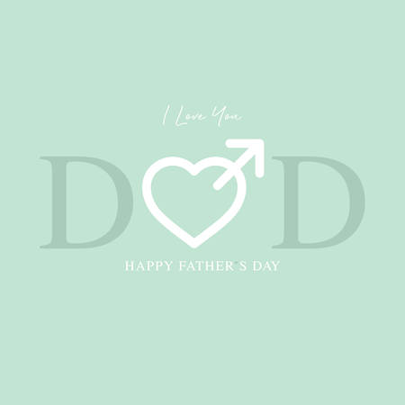 happy fathers day greeting card vector illustration Stock Illustratie