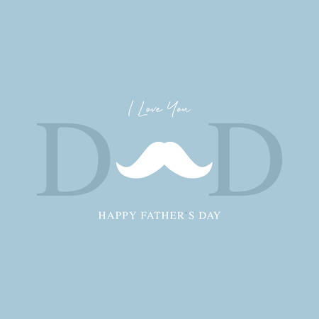 happy fathers day greeting card vector illustration Ilustração