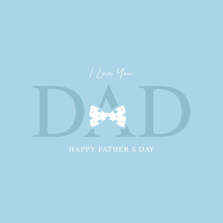 happy fathers day greeting card vector illustration Иллюстрация