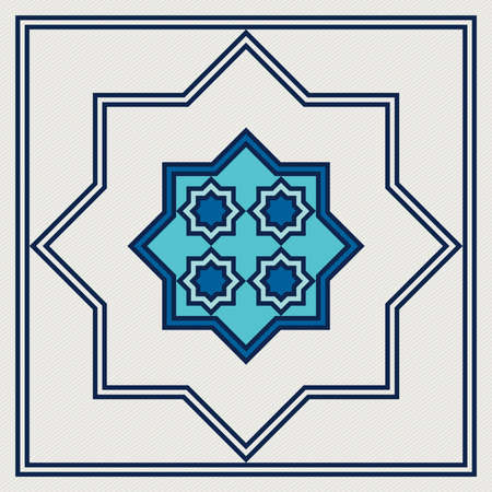 islamic oriental, geometric motif. traditional islamic, arabic, persian and ottoman design illustration