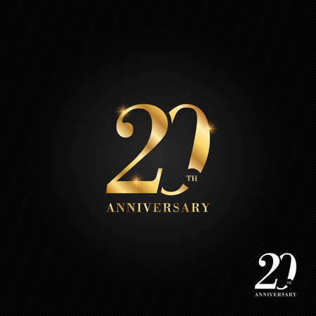 20 years anniversary icon and symbol illustration