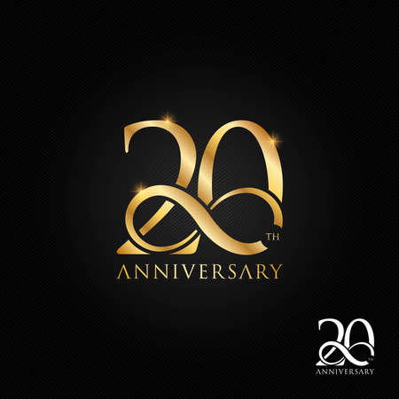 20 years anniversary  icon and symbol illustration Stock Illustratie
