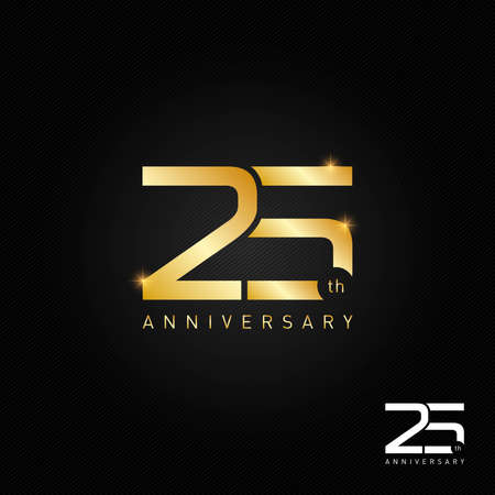 25 years anniversary  icon and symbol vector illustration