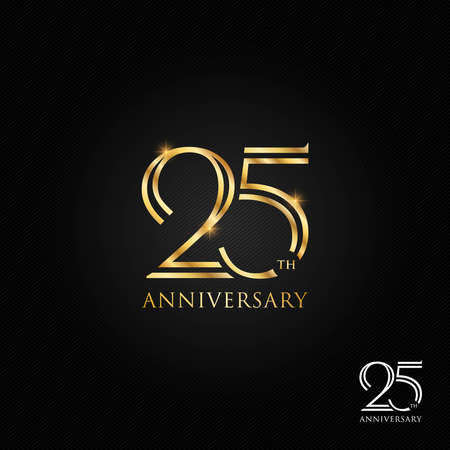 25 years anniversary logo, icon and symbol vector illustration Illusztráció