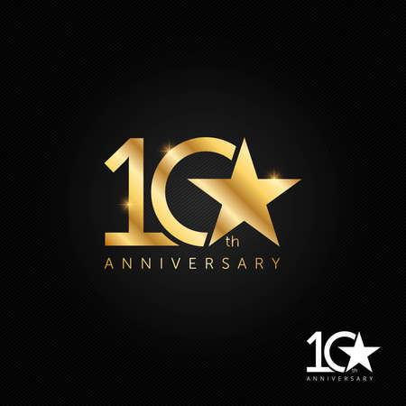 10 years anniversary, icon and symbol vector illustration