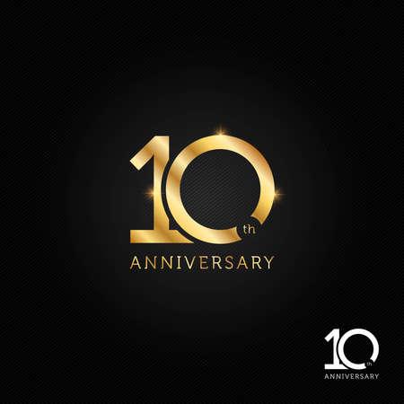 10 years anniversary logo, icon and symbol vector illustration Illusztráció