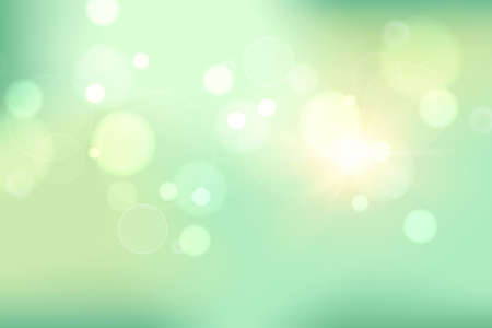 abstract soft green blurred gradient background, vector illustration