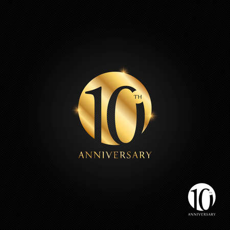 10 years anniversary icon and symbol vector illustration