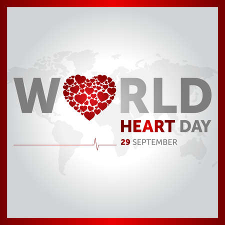 29 september world heart day concept design vector illustration