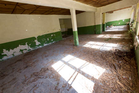 Abandoned school after an earthquake years ago. photo