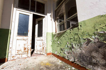 Abandoned school after an earthquake years ago.