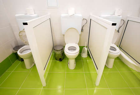 toilet paper: Small toilets for kids in a kindergarten. Editorial