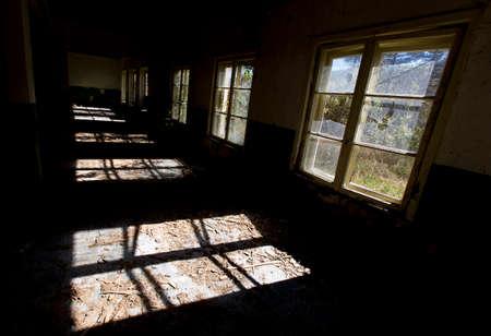 abandoned room: Dark Abandoned school room