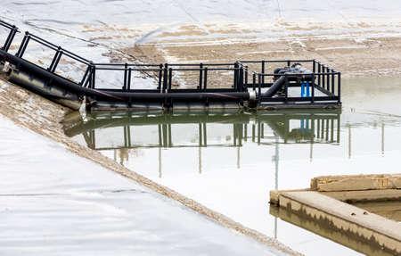 eau de pluie: usine de traitement des eaux de pluie (RWTP). Fonderie respectueux de l'environnement.