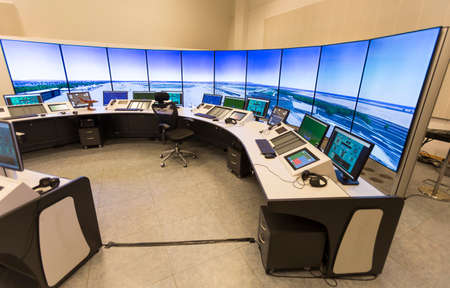 traffic control: Bulgarian Air Traffic Services Authority (BULATSA) control center.