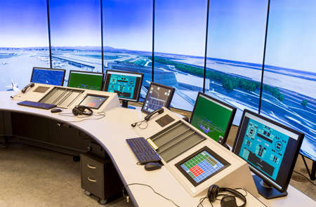 air traffic: Bulgarian Air Traffic Services Authority (BULATSA) control center.