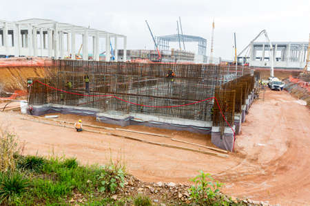 organic waste: Constructing a new waste plant. Organic waste plant.
