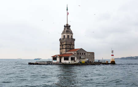 timeless: Mainden tower on a small island in Istanbul.