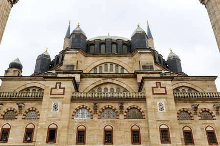 selimiye mosque: Outside of the Selimiye Mosque in Edirne. Stock Photo