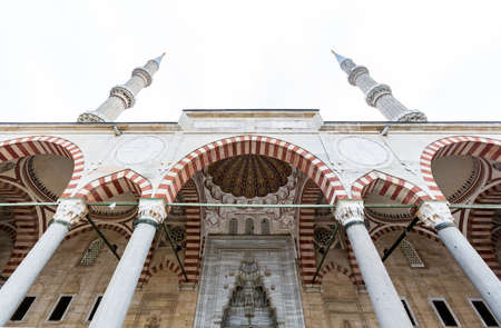 Outside of the Selimiye Mosque in Edirne. Stock Photo