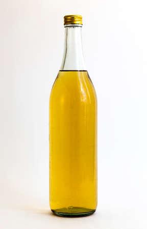 rakia: Bulgarian domestic brandy (rakia) isolated on white.